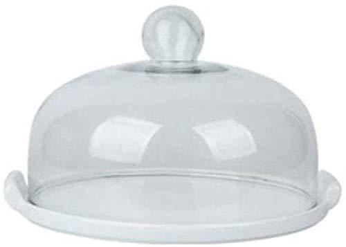 ZXL Taartvorm, klassiek, wit, voor cake, bruiloftstaart, chocolade, poeder, glazen afdekking, diameter 26 – 29 cm
