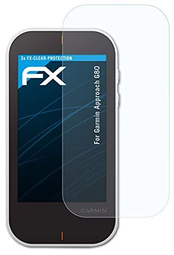 atFoliX Lámina Protectora de Pantalla Compatible con Garmin Approach G80 Película Protectora, Ultra Transparente FX Lámina Protectora (3X)