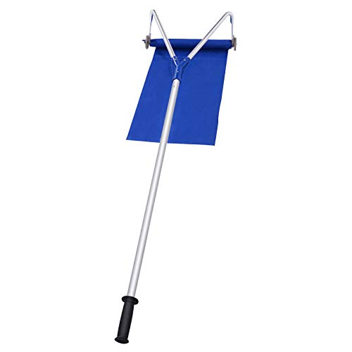 GYMAX Snow Roof Rake, 21FT Roof Rake for Snow Removal with Extendable Handle, Adjustable Length Lightweight Snow Rake Ideal for Long or Low-Pitched Roofs
