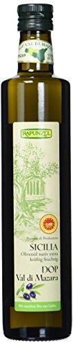 Rapunzel Olivenöl Sicilia DOP nativ extra, 1er Pack (1 x 0,50l) - Bio