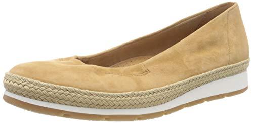 Gabor Shoes Damen Comfort Sport Geschlossene Ballerinas, Braun (Sattel (Jute) 35), 40 EU