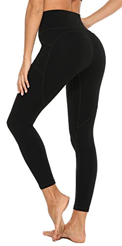 JOYSPELS Leggings Damen, Sportleggins Damen Lang High Waist Sporthose Trainingshose Schwarz, M