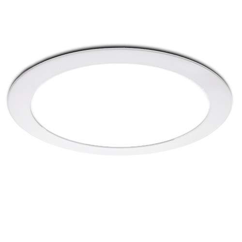 Greenice | Placa de LEDs Circular 240Mm 20W 1600Lm 30.000H | Lámpara LED | Downlight LED | Panel LED Techo | Oficina, Fábrica, Pasillos, Baños | Blanco Frío