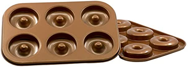 Non-Stick Original 6-Cavity Donut Baking Pan in Copper - 2 Pack