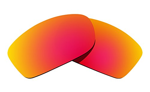 Littlebird4 1.5mm Polarized Replacement Lenses for Oakley Fives Squared Sunglasses - Multiple Options (Red Mirror)