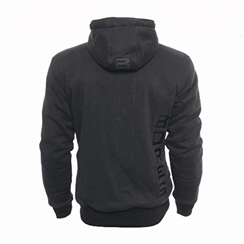 Bores Safety 3 Baumwolle Hoodie, Wasserabweisend, Reißfest, Schwarz, Größe XL