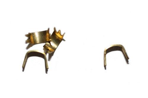 dalipo 32004 - Reißverschluss Stopper Endstücke unten, 2 Stück, gold