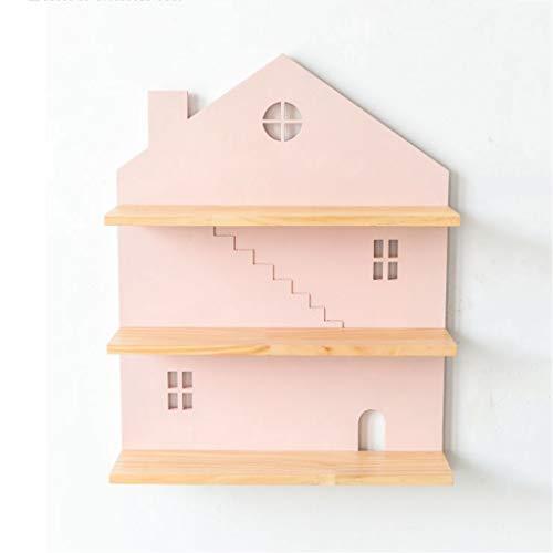 Étagères murales en forme de maison Étagère flottante Présentoir décoratif à 3 niveaux pour chambre, salon, salle de bain, cuisine, bureau