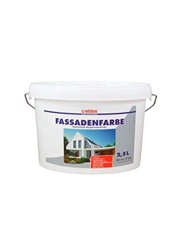 Fassadenfarbe 2,5 Liter ca. 15 m² Wilckens Farbe Außen Dispersion Fassade weiß Beton Mauerwerk
