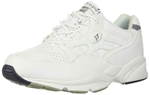 Propet Men's Stability Walker Sneaker, White, 12 5E US