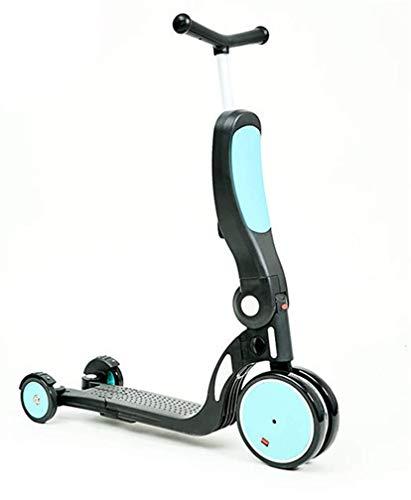 HEWEI Patinete de Triciclo Convertible 5 en 1 para niños y niños pequeños de 2 a 14 años Azul