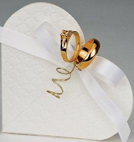 Club Green Wedding Anello in Metallo Placcato Oro, Metallico, Confezione da 12