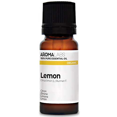 Limón BIO - 10ml - Aceite esencial 100% natural y BIO - calidad verificada por cromatografía - Aroma Labs