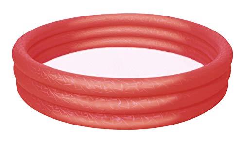 Bestway! Planschbecken Play Pool für Kinder, rund, 3 Ringe, Volumenca.282l, Øca.152cm, 3 Versionen (Rot)