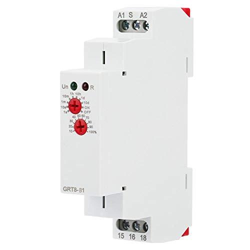 BYARSS GRT8-B1 Mini programable de Apagado Digital Tiempo de retardo Relé Temporizador Relé Riel DIN Tipo AC 220V