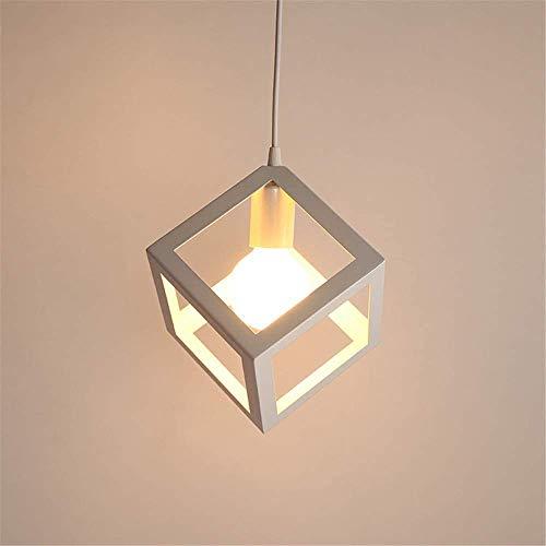 Lampada a sospensione Vintage industriale, cubo creativo battuto lampadario in ferro adatto per sala da pranzo e un da cucina, E27, lampadina non inclusa