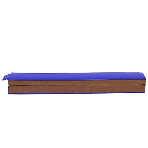 COSTWAY 240cm Opvouwbare evenwichtsbalk, gymnastiekstang op de vloer, zacht suède-achtig oppervlak en antislip PU-basis, lichtgewicht om te dragen, op te vouwen voor eenvoudige opslag, ideaal voor kinderen