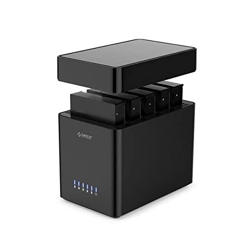 ORICO Docking Station 5 bay USB 3.0 Tool-free Custodia per disco rigido magnetica 3.5' per SATA External Hard Drive SATA3.0 da 5x16TB con adattatore 12V6.5A compatibile con Windows/Mac/Linux