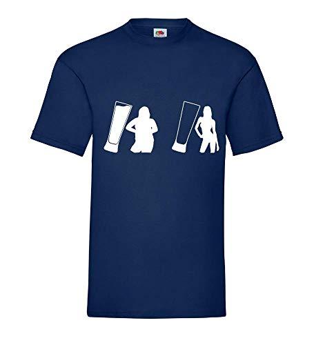 Come cambia la birra! Shirt84.de - Maglietta da uomo blu navy XXXL