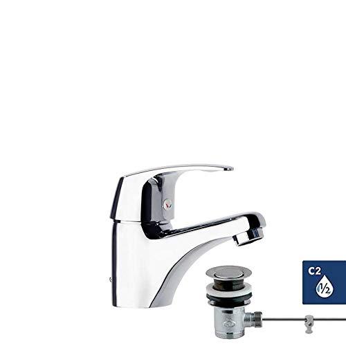 Ramon Soler Vulcano Energy 6901 - Grifo monomando para lavabo con desagüe