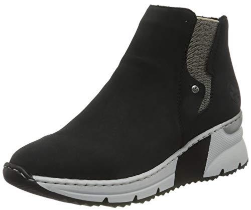 Rieker Damen X6361 Mode-Stiefel, Pazifik/leinen 14, 39 EU