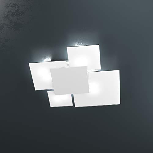 Plafonnier plafond lampe moderne 4 vitres Upgrade Top Light 1148/70-bi Plaque Frontale Blanche cuisine salle chambre intérieur