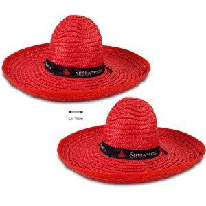 Sierra Tequila Hut Sombrero Strohhut Mexiko Karneval Aktion ca. 45cm Durchmesser - 2 Stück