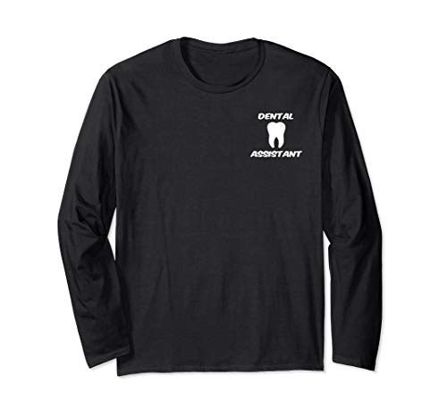 Dental Assistant Tooth Logo Graphic Clipart Long Sleeve T-Shirt