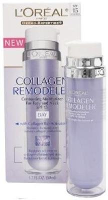 L'oreal Collagen Remodeler & Contouring Moisturizer for Face and Neck DAY With Collagen Bio-Activator (1.7 FL OZ) SPF 15