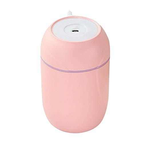 Coche purificador de aire con filtro de aire HEPA, LED de colores Luz Aire Purificador Elimina el 99,97% de las partículas, la liberación de iones negativos Inicio de filtración de aire for las alergi