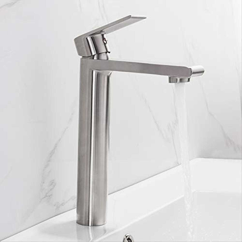 Bad Wasserhahn Edelstahl-basin-faucet Tall Basin Mixer Tap Bathroom Cold Und Hot Water Faucet Mixer Water Sink