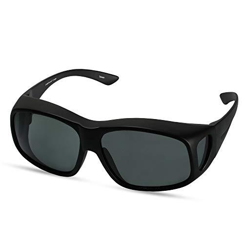 LensCovers Large (Black) Wear Over Sunglasses