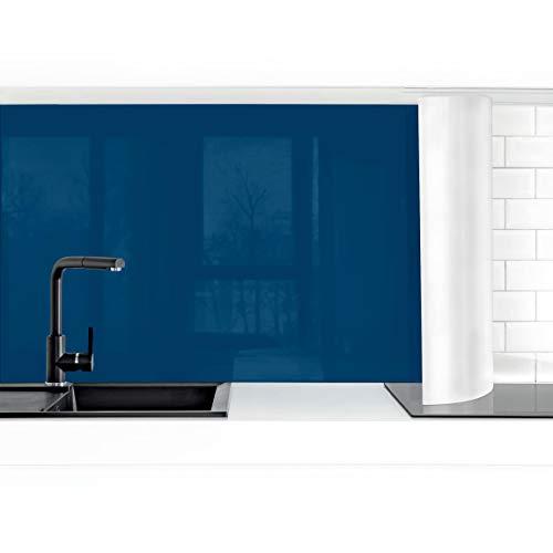 Bilderwelten Küchenrückwand Folie selbstklebend Preussisch-Blau 50 x 50 cm Premium