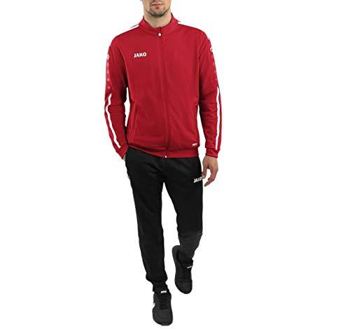 JAKO Kinder Trainingsanzug Polyester Striker 2.0, chili rot/weiß, 128, M9119
