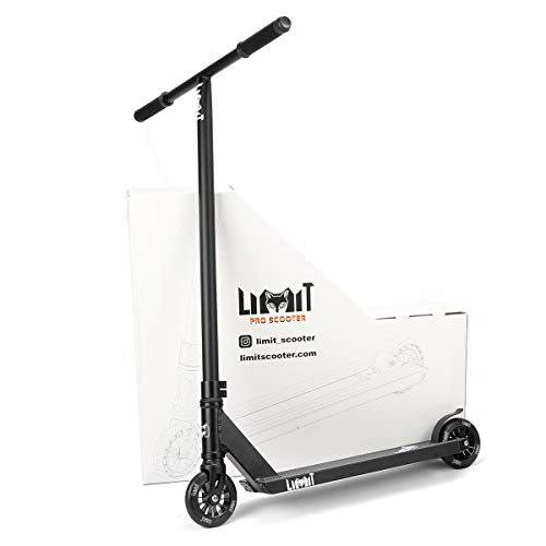 LMT69 Professional Scooter-Trick Scooter-Intermediate Beginner Stunt Scooter Suitable - Children, Teenagers Adults 8 Years Old Above (Black)