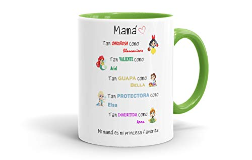 REGALOS ESTRELLA AZUL Tazas Desayuno Originales. Mi mamá es mi Princesa Favorita,...