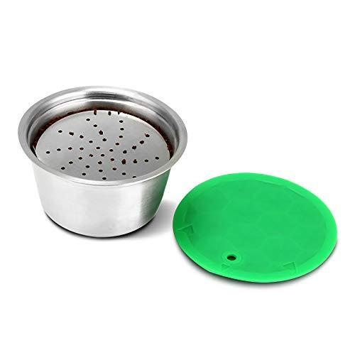 OurLeeme Cápsula recargable de café, Cápsulas Recargables para Dolce Gusto, taza de filtro de café reutilizable de acero inoxidable para Nespresso Dolce Gusto para café fragante