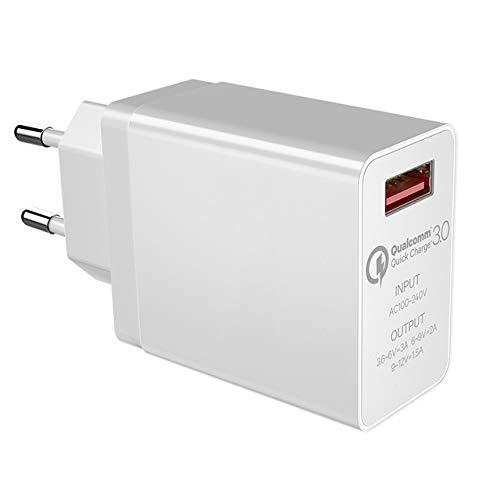 YHML Cargador USB Puerto Único QC3.0 Carga Carga Rápida 5V3A Euro 9V2A...