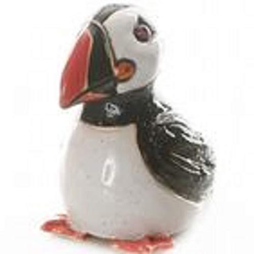 Redwood Ceramic Puffin Ornament Figureine 9456 Salt Glaze Sitting By Angelica Studios
