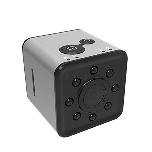 CXSD Cámara espía Wifi oculta, la cámara de vigilancia de seguridad más pequeña 1080P Full HD, mini cámara inalámbrica portátil, cámara web de monitoreo remoto (color: plata, tamaño: 32 g)