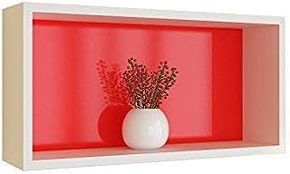 JHUEN Etagère Murale Salon TV Forme de cloison de séparation Cadre de décoration en Treillis Creative Boîte Étagère Murale...