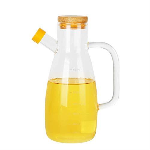 BKHJFKDGA Eine Flasche Öl Küche Kochwerkzeuge erreichen Gravy Boot Glas Olivenöl Sauce Flasche und Essig Dispenser Würzen Jar 1pc 650ml