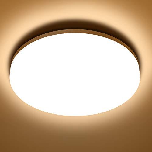 NIXIUKOL 18W Deckenlampe, LED Deckenleuchte 3000K Warmweiß, IP54 Wasserfest Badlampe Wohnzimmerlampe Schlafzimmerlampe 1800LM ideal für Badezimmer Balkon Flur Küche, 22cm