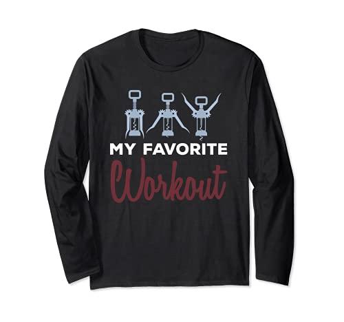 Questo mio allenamento preferito con cavatappi Wine Opener Shirt Maglia a Manica