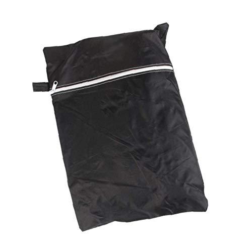 Round Grillabdeckung Heavy-Duty-Wasserdichtes Gas Barbeque Grill Cover Outdoor BBQ-Abdeckung Für Weber Char-Broil More - Schwarz