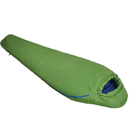 Yy.f Momie D'épaississement De Coton 7 Trous Quatre Saisons Le Camping Voyage Adulte Sac De Couchage à Capuchon Portable. Produits D'extérieur,Green-205*83cm