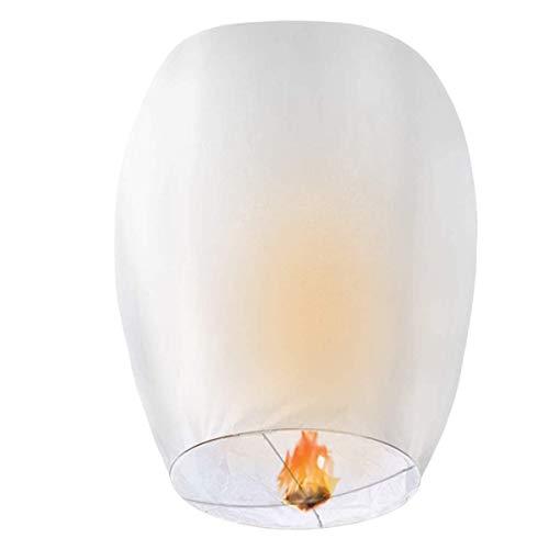 GOCHANGE 20 Pack Lanterns - 100% Biodegradable, Eco-Friendly, Lanterns for Weddings, Celebrations, Memorial Ceremonies