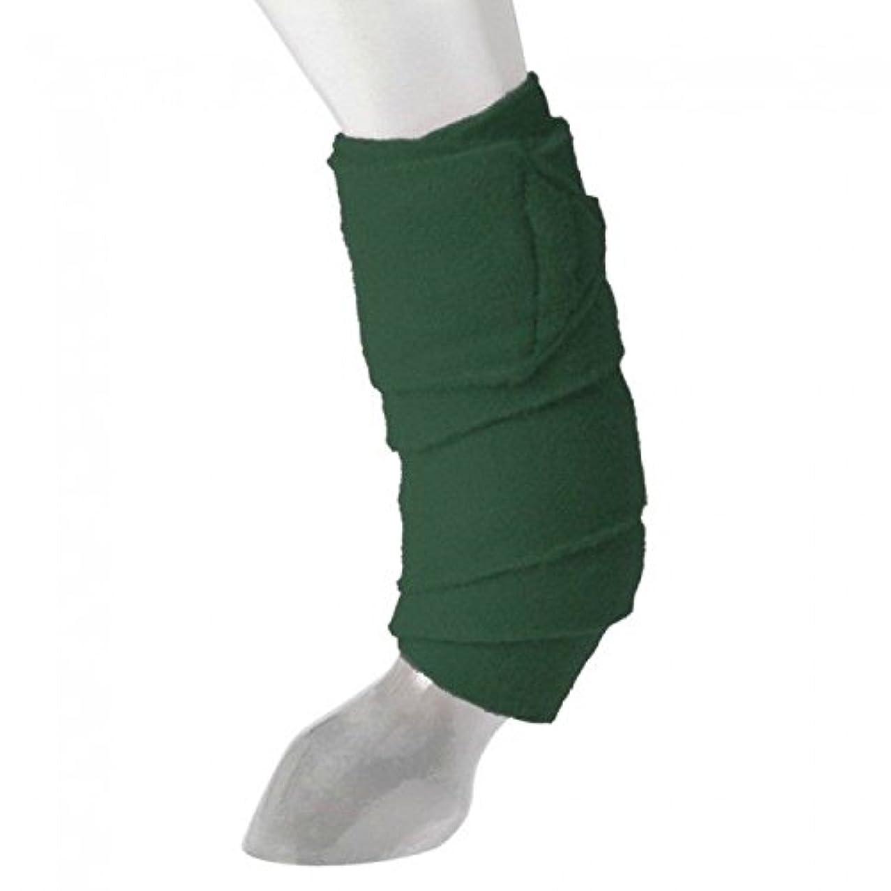 Tough-1 Set of 4 Hunter Green Miniature Fleece Polo Wraps Horse Tack 67-8012