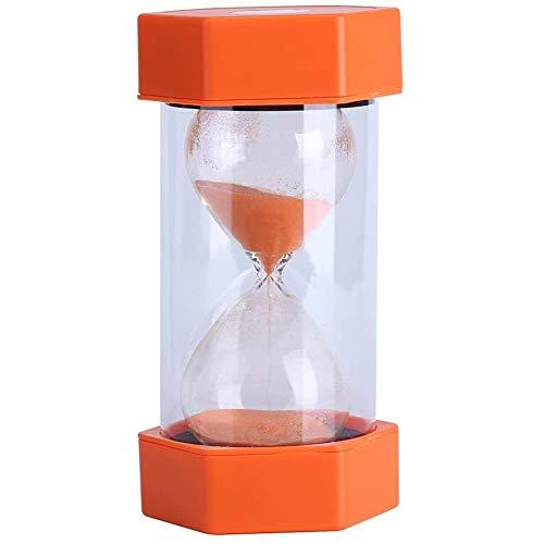 Reloj de Arena para niños, Temporizador de Reloj de Arena de 5 Minutos, Reloj de Arena de plástico, Mini Reloj de Arena, se Puede Utilizar para Sala de Juegos y cepillarse los Dientes (Naranja)