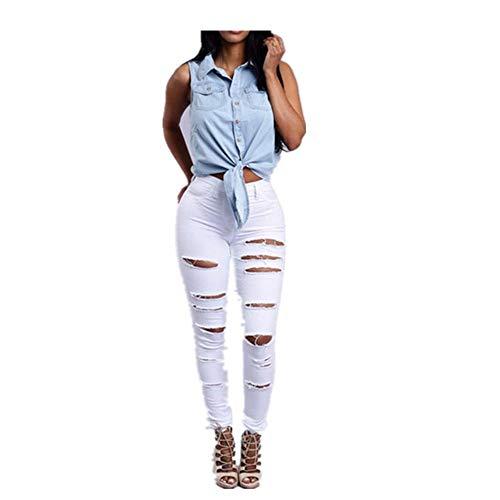 NOBRAND Dames Nieuwe Jeans met Gaten